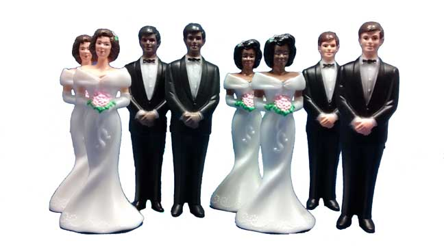 Diverse Bride and Groom Figures